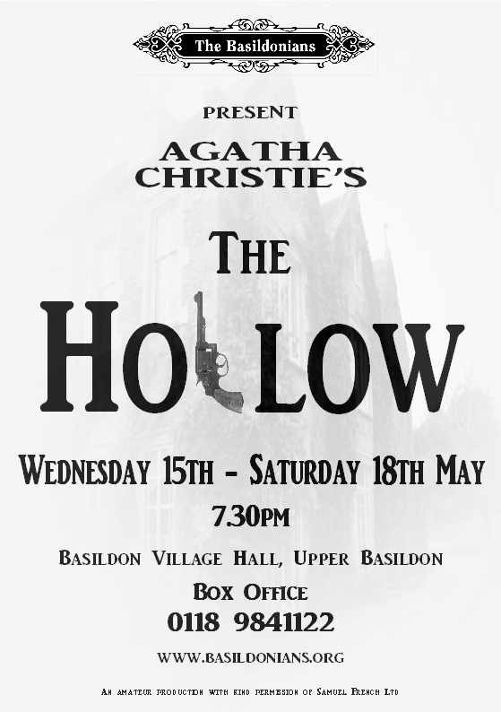 Poster for The Hollow at Basildon Village Hall